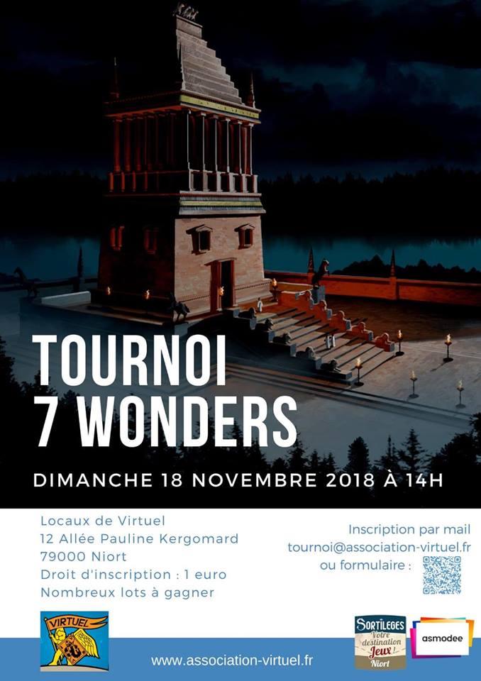 Tournoi seven wonders 18 décembre 2018